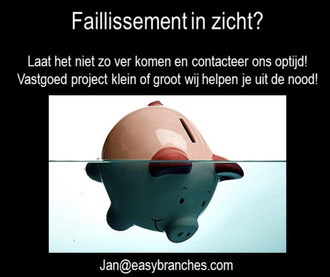 Faillisement in zicht???????  Laat het niet zo ver komen en contacteer ons optijd!!!!!!! Vastgoed project klein of groot wij helpen U uit de Nood!!!!!!